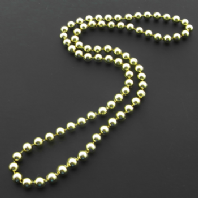 Gold bead single strand necklace (Code 0936)